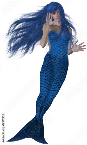 Staande foto Zeemeermin Swimming Mermaid