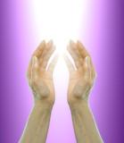 Fototapety hands receiving healing energy