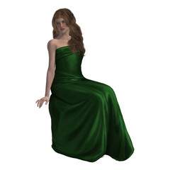 Woman In A Gown