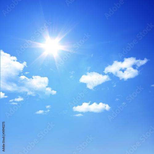 Leinwandbild Motiv Sonne über den Wolken