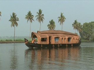 Houseboat trip through backwaters in Alleppey India