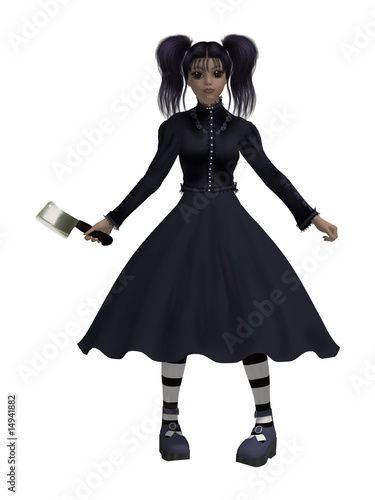 Goth Girl With An Axe