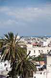 rooftop view casablanca morocco harbor and medina poster