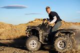 quad - teen driving four wheeler ATV poster