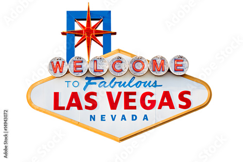 Fototapeta las vegas sign isolated on white - welcome to las vegas