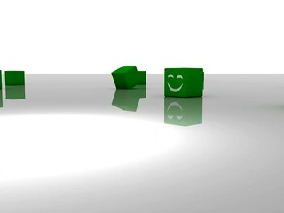 Group og green cubes