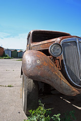 rusted classic german car