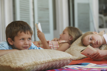 Three Children Relaxing