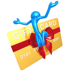 3D Character With Gift Card