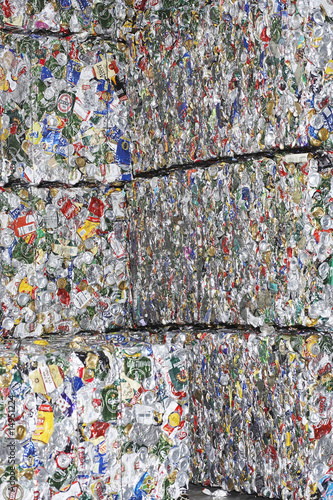 Stacks of recycled paper