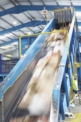 Conveyor belt in factory