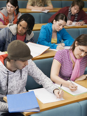 College Students Studying in Class