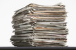 Pile of waste paper