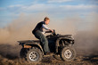 teen riding ATV quad