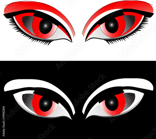 eye red illustration