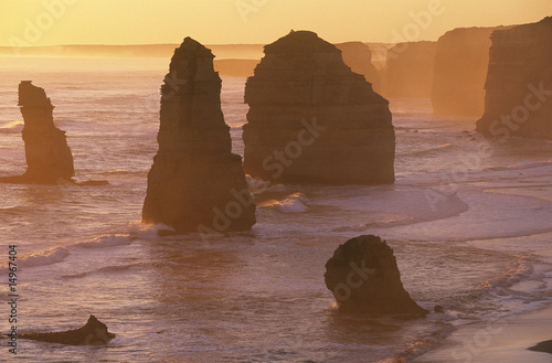 Australia, Victoria, Great Ocean Road, Twelve Apostles at sunset