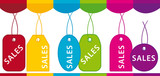 Sales labels showcase poster