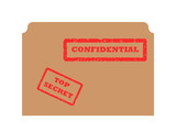 Secret and Confidential stamp poster