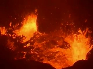 lac de lave volcan puoo hawai