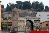 Rome cityscape romanesque church  Italy poster