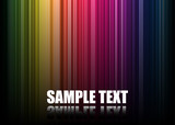 Vector Rainbow Spectrum Background poster