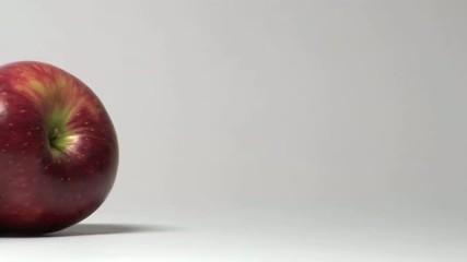 lenta carrellata su fila di mele