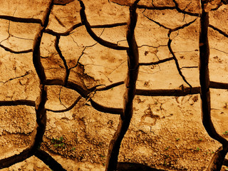 Cracks in a ground