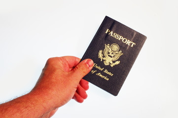 hand holding passport