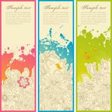 magic garden doodles banners poster