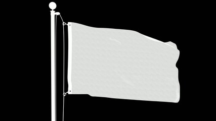 Isolated Serbian Flag on Flag Pole