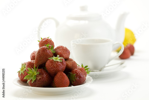 tea time whith strawberry