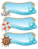 sailing banner poster