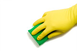 Latex Glove and Sponge poster
