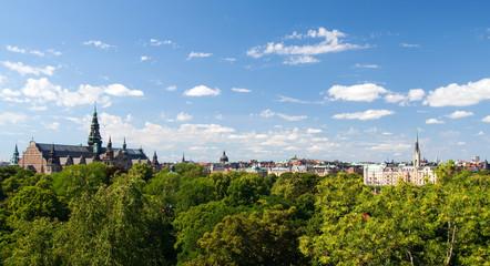 Häuserpanorama in Stockholm