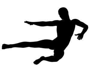 mann springt