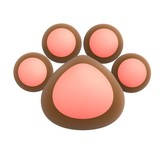 cute pet paw poster