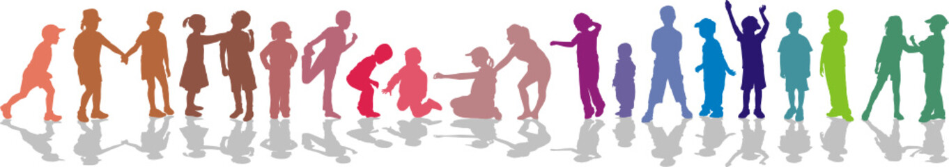 Children color-isolated vector