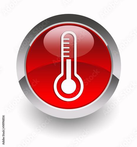 Leinwandbild Motiv Thermometer glossy icon