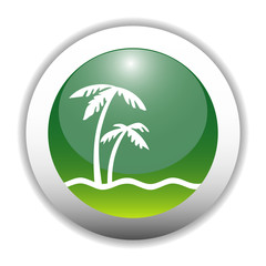 Glossy Palm Tree Button