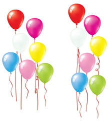 Set Of Vector Colorful Balloons. Balloon Collection.