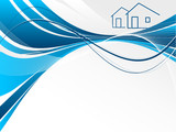 header for real estate or construction company presentation poster