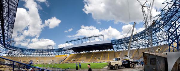 Panorama of the stadium in Ukraine