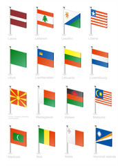 Flag icon set (part 7)