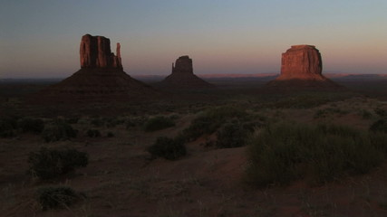 Sunset, Monument Valley, time lapse