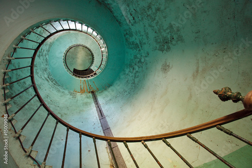 Leinwandbild Motiv lighthouse staircase