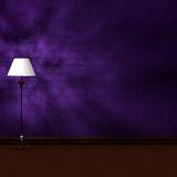 Standard lamp in dark scary minimalist interior poster