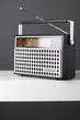 Old fashioned radio, studio shot