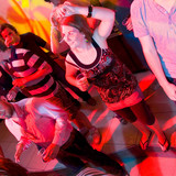 Dancing woman in a nightclub poster