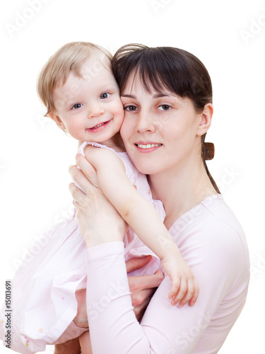 Little girl with mom