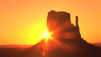 Monument Valley, sunrise, time lapse